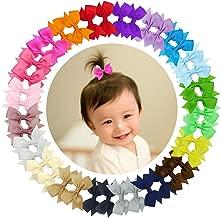"Ruyaa 40pcs Tiny 2"" Pinwheel Hair Bows Alligator Clips for Baby Gilrs Toddlers Kids"