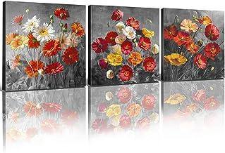 Storm Poppies FLoral Canvas Art Print Flowers picture