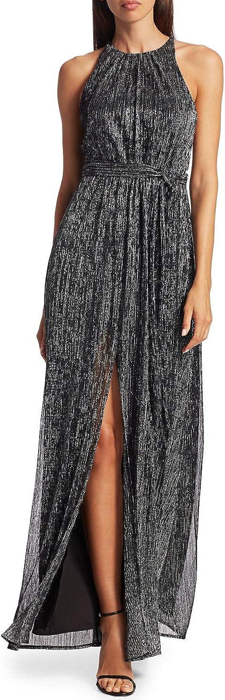HALSTON Cheap mail order shopping Women's Metallic Jersey Trust Gown
