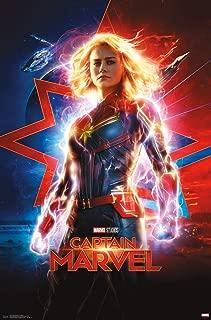 Trends International Captain Marvel-One Sheet Clip Bundle Wall Poster, 22.375