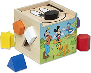 Melissa & Doug Mickey Shape Sorting Cube, Great Gift for Girls and Boys - Best for 2, 3, 4 Year Olds and Up