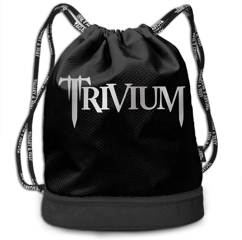 Gymsack Trivium Print Drawstring Bags  Simple Hiking Sack