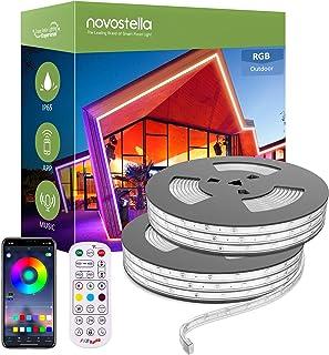 Novostella 32M (16Mx2) Ruban à LED RGB Extérieur IP65 Étanche, Bande LED Couleur APP Contrôle avec RF Télécommande, Sync a...