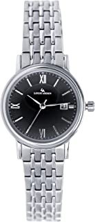 Louis Arden Watch For Women, Stainless Steel -LA5003L-SV -BLK-SV