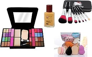 MY TYA Fashion Makeup Kit for Girls + Premium Hello Kitty Makeup Brushes + 6 Piece Makeup Sponges + LongWear Foundation (B...