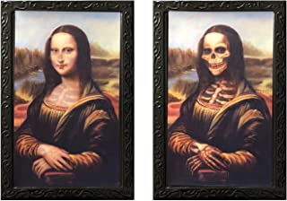DaGou Halloween Wall Decor,Halloween Trick or Treat Mega Value Party Scene Setters Wall Decorating Kit (Mona Lisa)