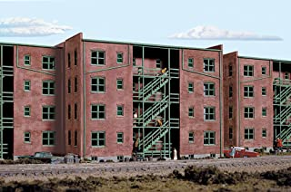 Walthers Cornerstone Series Kit HO Scale Parkview Terrace Apartment Back Tuscan