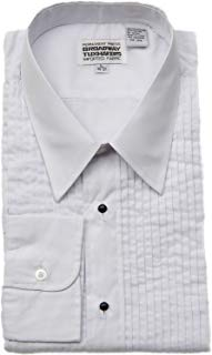 "Men's Lay Down Collar, 1/4"" Pleats Tuxedo Shirt"