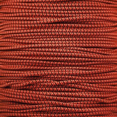 1/8 Inch Diameter Shock Cord - Neon Orange Camo, 100 Feet - Elastic Stretch for Custom Bungee Lengths
