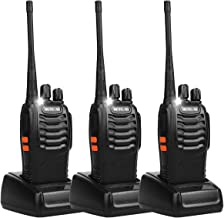 Retevis H-777 Two Way Radios Long Range UHF Rechargeable 16CH CTCSS/DCS Flashlight Walkie Talkies with USB Charger (3 Pack)