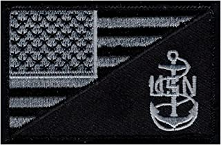 American USA Flag Navy Anchor Morale Hook Fastener Patch (MTN3)