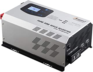 AMPINVT 3000W Peak 9000W Pure Sine Wave Power Inverter DC 12V to AC 110V Ouput Converter with Battery AC Charger 60A max A...