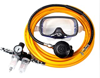 JUFENG Scuba Diving Kayak Dive Kit with Regulator, Face Mask and Oil-Water Separator, 30ft Long Hose Gauge Scuba Diving Commercial Boat Cleaning Scuba