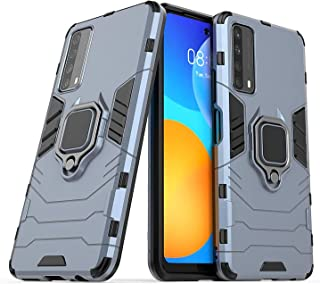 Larook Case for Honor X10 5G, 360 degree Rotating Ring Holder Heavy Duty Armor Shockproof Cover, Hard PC Case with Magneti...