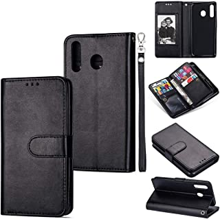 LENASH För Huawei P30 Lite Ultra-Thin 9 Card Horisontellt Flip Läderfodral, Med Kort Slots & Holder & Lanyard Fallskydd (C...