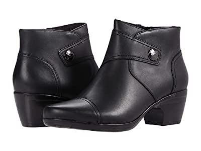 Clarks Emily Calle (Black Leather) Women
