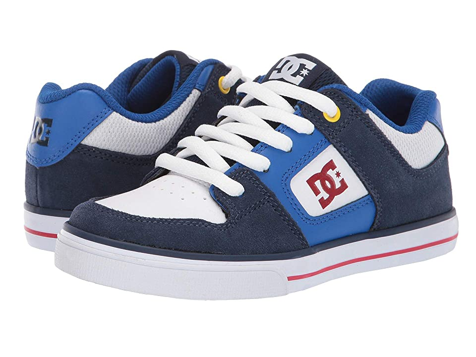 DC Kids Pure (Little Kid/Big Kid) (Navy/Red) Boys Shoes