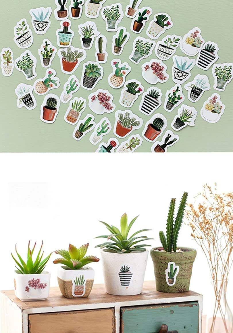 Colorful Self-adhesive Stickers Labels Boxed Stickers Pocket Album Decoration Seal Stickers DIY Paper Stickers Decorative Labels for Wedding Party Gift Packaging Bake Decoration (Multi-Plants) fdzvb42002
