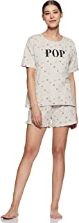 Amazon Brand - Eden & Ivy Women's T-Shirt & Shorts Set Loose Fit nightdress set