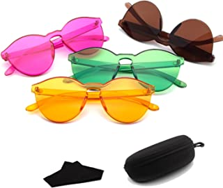 Sunglasses Fashion Accessories Womens Sunglasses Round Sunglasses Transparent Candy Color Eyewear (Color : Orange)