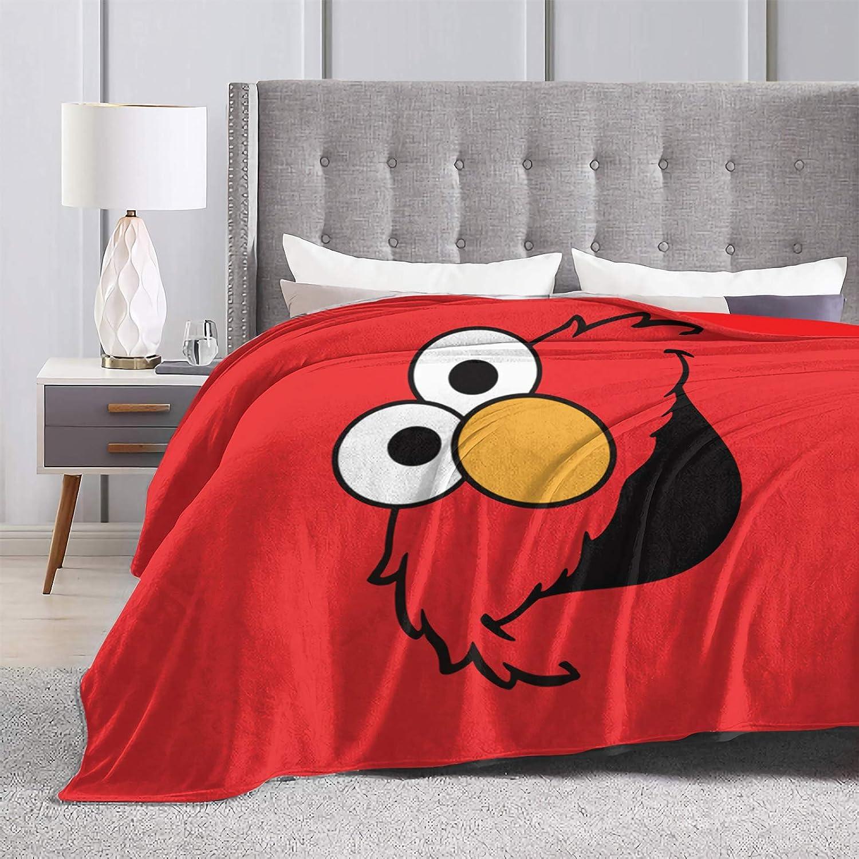 Ultra Soft Flannel Fleece Throw Blanket Grover All Season Lightweight Living Room Bedroom Sofa Quilt 50X40for Kids