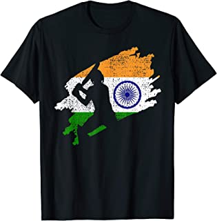 Cricket India Flag Indian Jersey Vintage Gift T-Shirt
