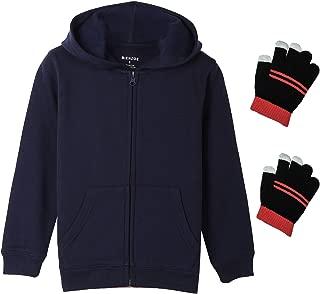 Girl's Anti-Pilling Fleece School Uniform Hoodie with Free Glove
