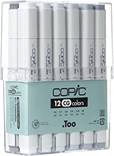 Copic Markers 12-Piece Cool Gray Set