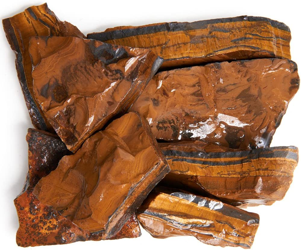 Digging Dolls: 3 lbs Directly managed store Tiger Eye Rough South Africa Indianapolis Mall from - Rocks A