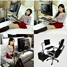 MagicHold® Height Adjusting Sit Stand Computer,Monitor,Laptop,Tablet for Bed Office Stand Mount Workstation