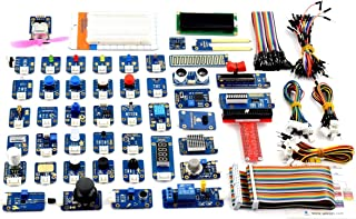 Adeept Kit de 46 modules pour Raspberry Pi 3,2 B/B+, BMP180, DHT11, Raspberry Pi Sensor Starter Kit avec code C et Python,...