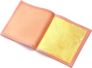 24 Karat Edible Gold Leaf 15 Sheets Gold Leaf 3.15 x 3.15 Inch for Arts &Crafts, Gilding,Cake Decorations,Beauty-Loose Leaf