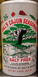 Ball's All Purpose Salt Free Cajun Seasoning, 8 Ounce Shaker