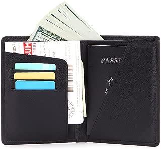 Shengjuanfeng Mens Wallet Simple Retro Crazy Horseskin Short Wallet Solid Color Document Bag Color : Black, Size : S