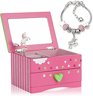 Amitié Lane Unicorn Jewellery Box For Girls PLUS Augmented Reality Experience (STEM Toy) - Unicorn Music Box With Pullout ...