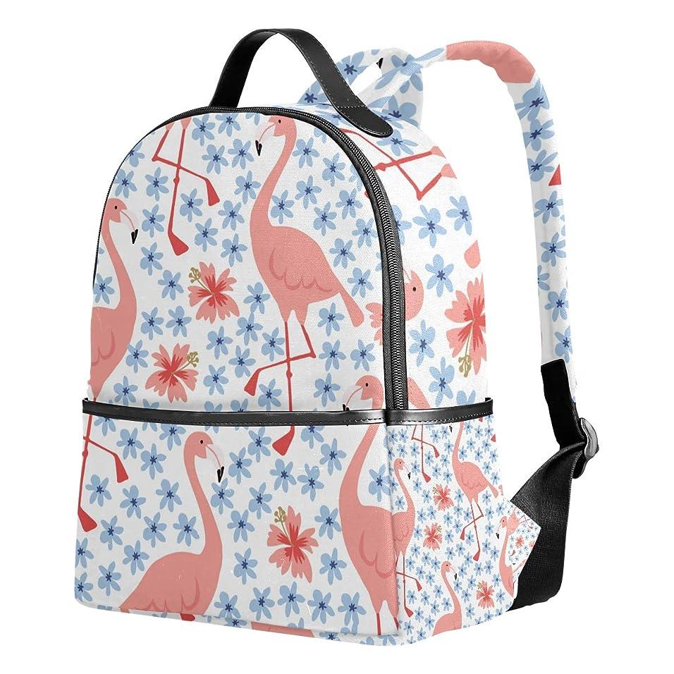 利用可能軌道翻訳ユサキ(USAKI) リュック リュックサック 通学 フラミンゴ柄 鳥柄 花柄