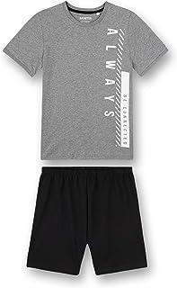 Sanetta Schlafanzug kurz grau Jongens Pyjamaset
