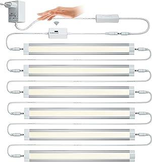Lampaous 6 x 4 W regulable LED lámpara de iluminación inferior con sensor de luz, barra de luz nocturna lámpara de cocina,...