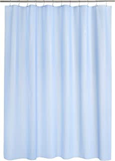 Amazon Brand - Solimo Emboss 100% PEVA Shower Curtain, 72 inch x 79 inch, Sky Blue