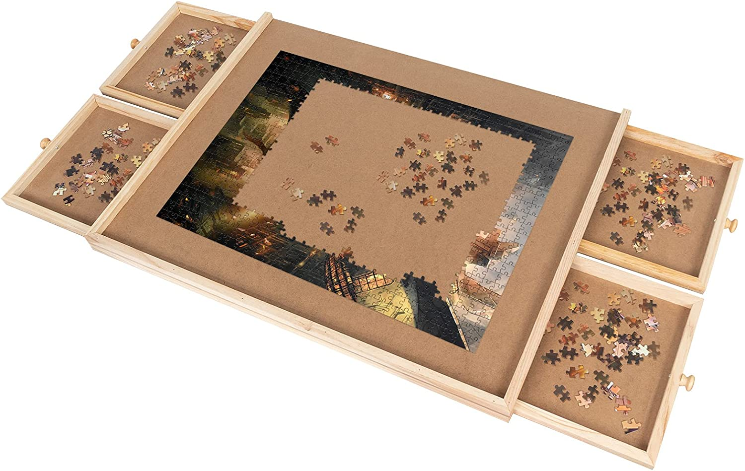 Jigsaw Puzzle Table Outlet sale feature 1000 Pieces Portabl Drawers Adults with Lowest price challenge for