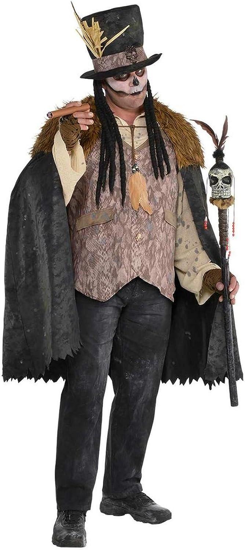 Mens Voodoo Witch Doctor Halloween Fancy Dress Costume