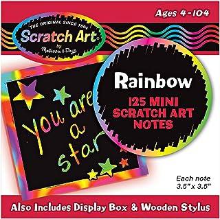 Melissa and Doug Rainbow Mini Scratch Art Notes 5945 - Activity and Amusement