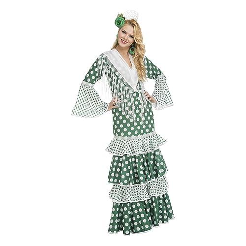 My Other Me Me-203870 Disfraz de flamenca feria para mujer Color verde XL Viving