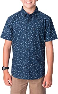 Rip Curl Men's RIFF S/S Shirt-BOY, Navy
