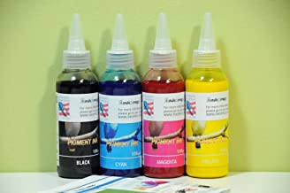 INKXPRO Brand 4 X 100ml Hi Quality Pigment Ink refills for Epson Workforce 7010 7510 7520 3540 3520 3620 3640 7610 7620 pr...