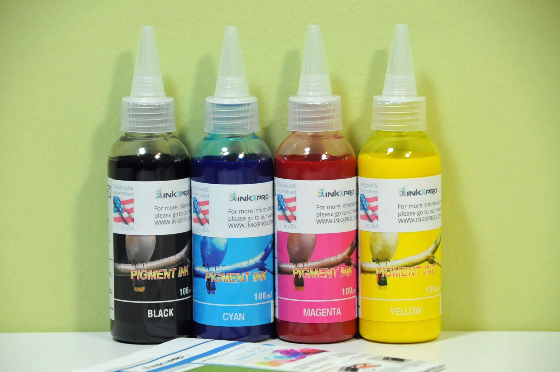 inkxpro Pigmento de marca Calidad HI 4x 100ml Recargas de Tinta para Epson Workforce 701075107520354035203620364076107620Impresora