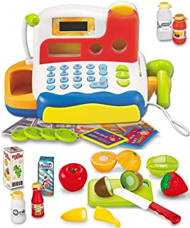 FUNERICA Durable Cash Register Toy for Kids | with Electronic Sounds, Microphone,..