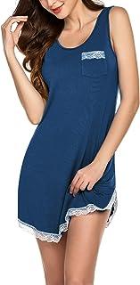 Ekouaer Womens Bathrobe Cotton Lightweight Nightgowns Sleepwear Spa Robe (S-XXL)