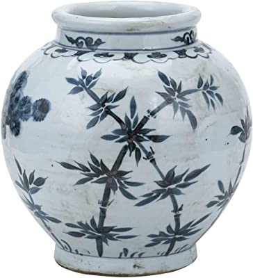 MISC Blue and White Small Jar Pine Bamboo Porcelain