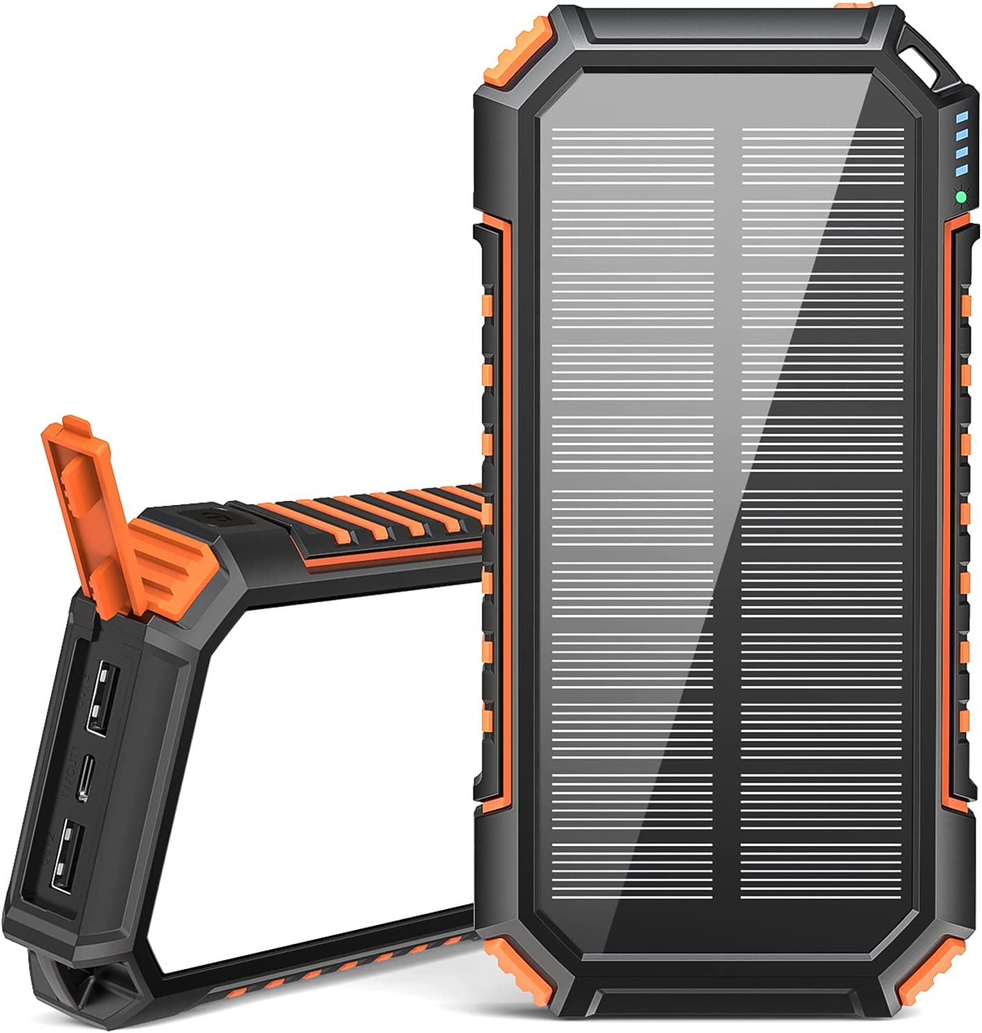 Solar Charger 26800mAh, USB C Fast Charging Power Bank with Orange